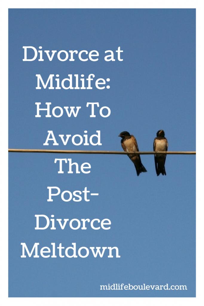 Divorce at Midlife: How To Avoid The Post-Divorce Meltdown