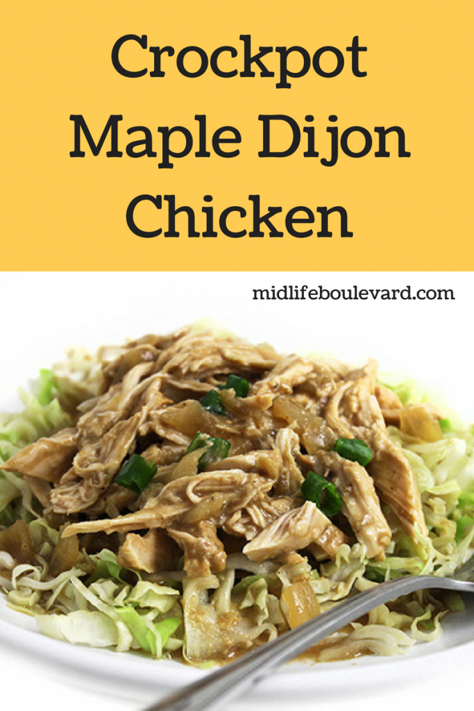 Skinny and Delicious Crockpot Maple Dijon Chicken