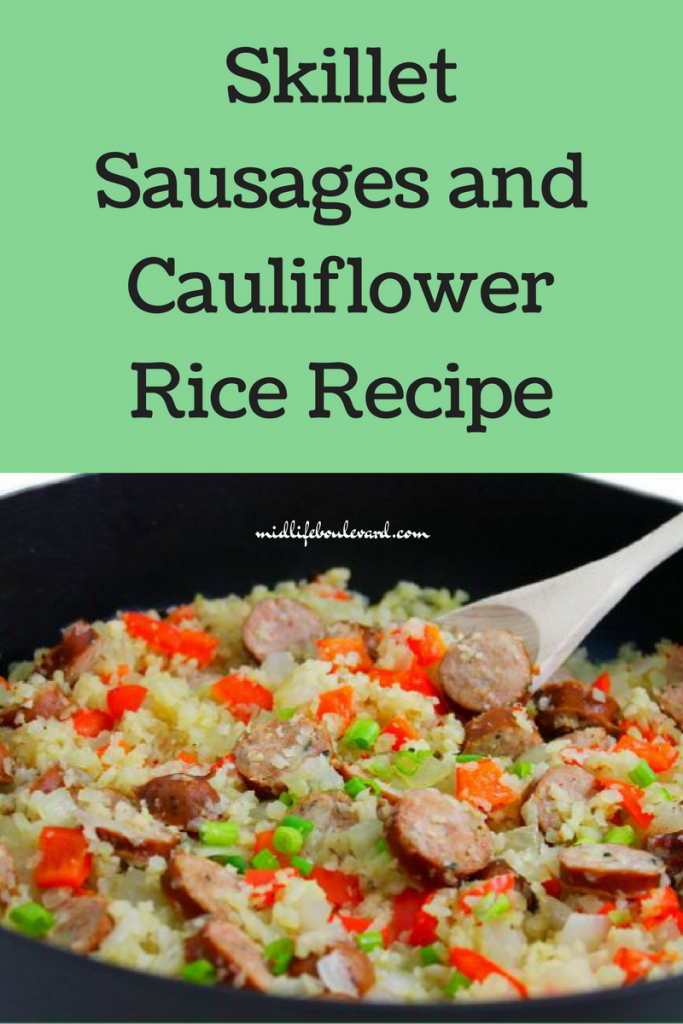 Skillet Sausages and Cauliflower Rice Recipe
