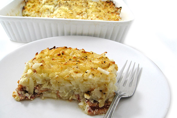 Bacon, Egg and Hash Browns Casserole
