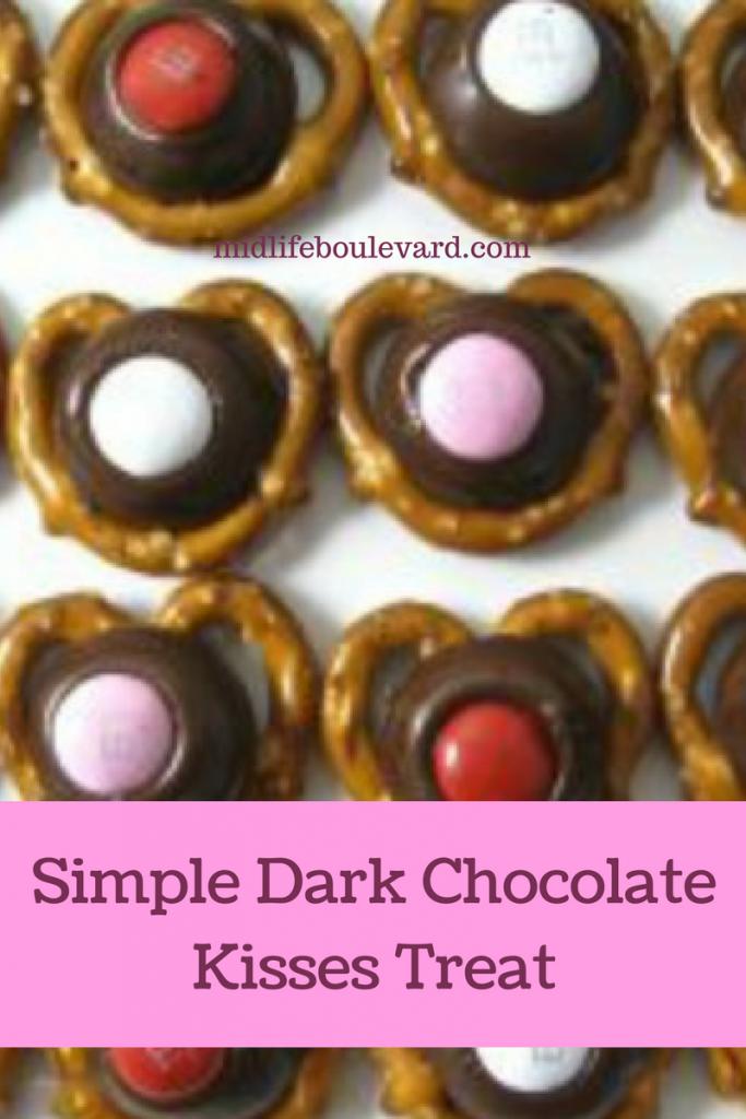 Simple Dark Chocolate Kisses Treat