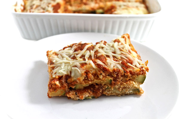 Weight Watchers friendly gluten-free, zucchhini parmesan recipe.