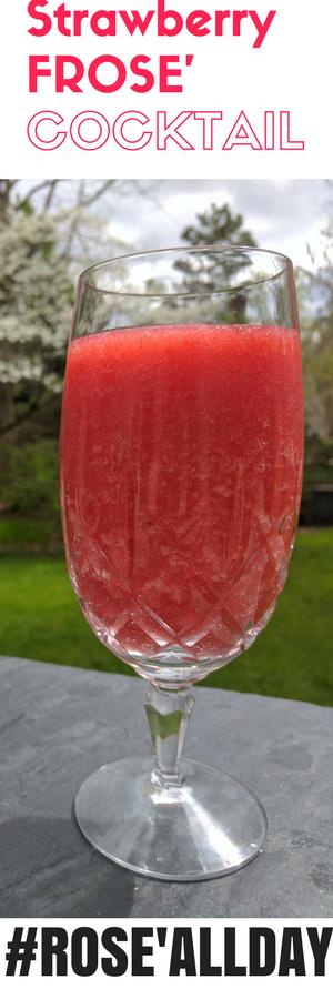 Frosé frozen rosé wine recipe. Summer cocktail recipe.