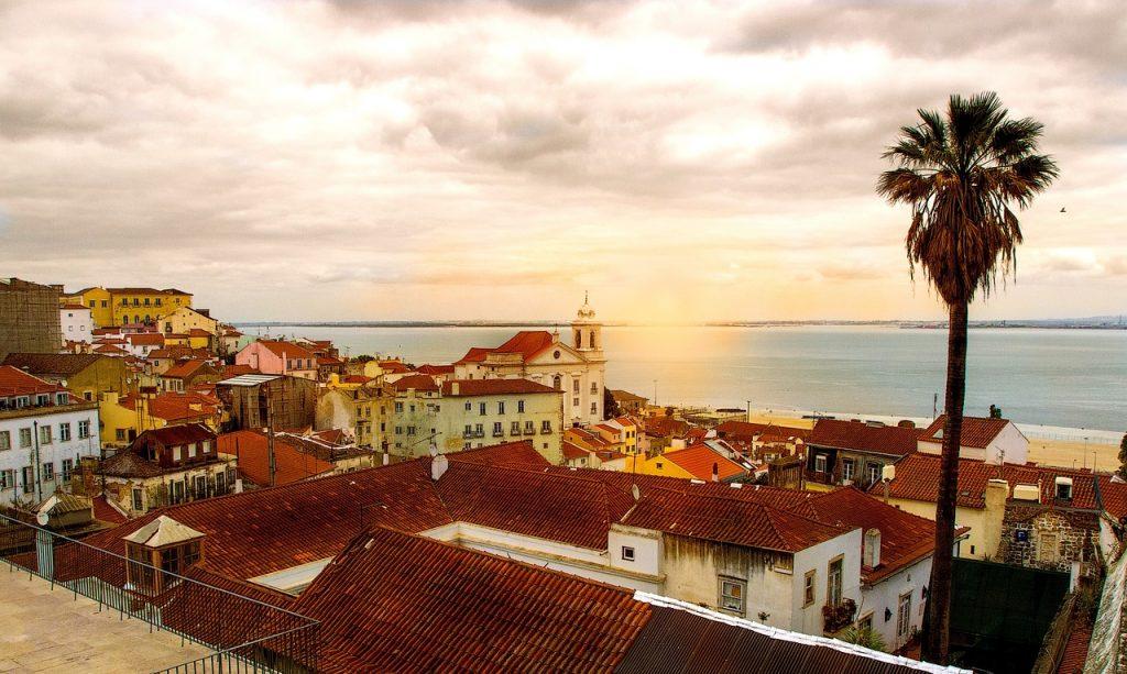 sunset lisbon portugal