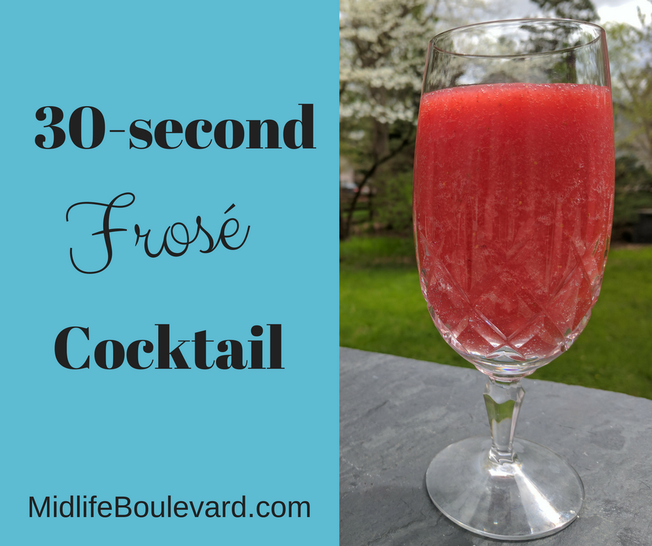 30-Second Strawberry Frosé Cocktail