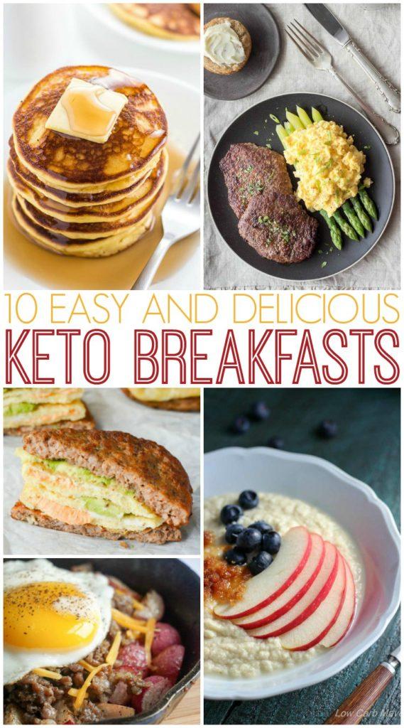 Keto breakfast recipes.