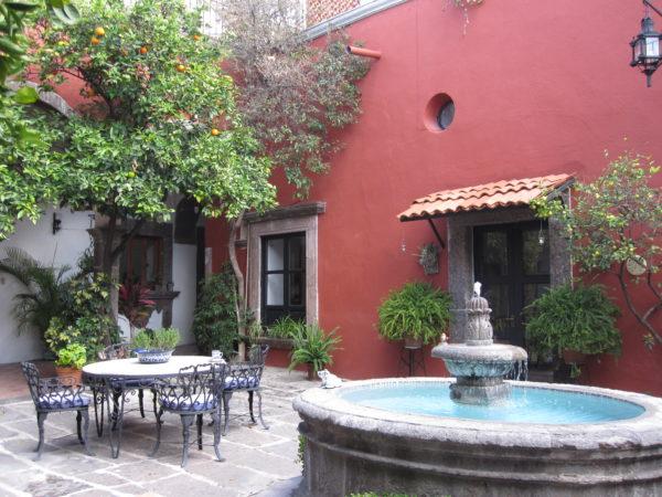 Courtyard of Casa Carmen, San Miguel de Allende, Mexico