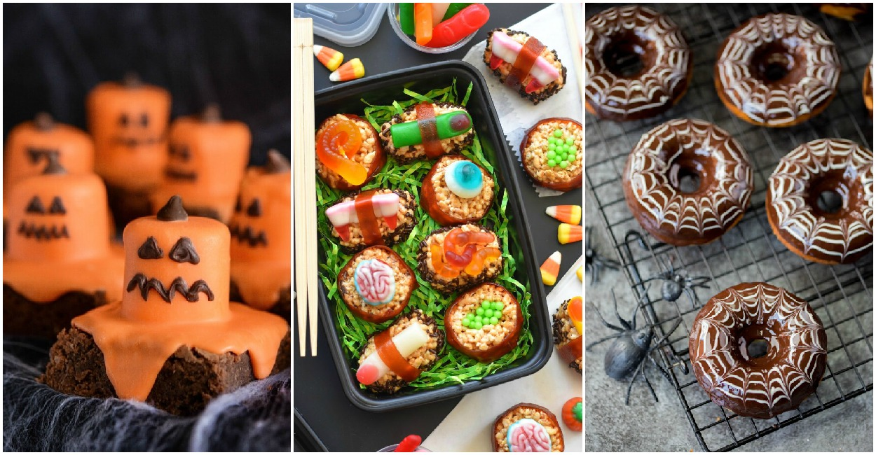 Halloween snacks for kids or adult Halloween party. Halloween recipes.