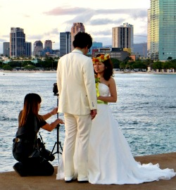 Living in Honolulu, Japanese weddings are omnipresent