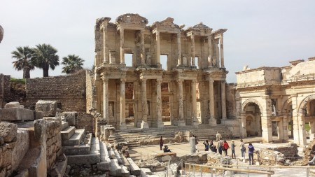 The library at Ephesus, Turkey