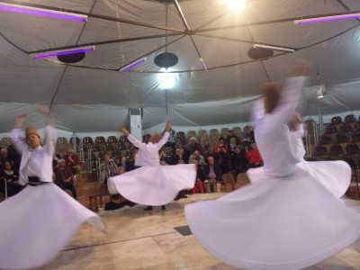 Whirling dervishes in Pamukkale, Turkey