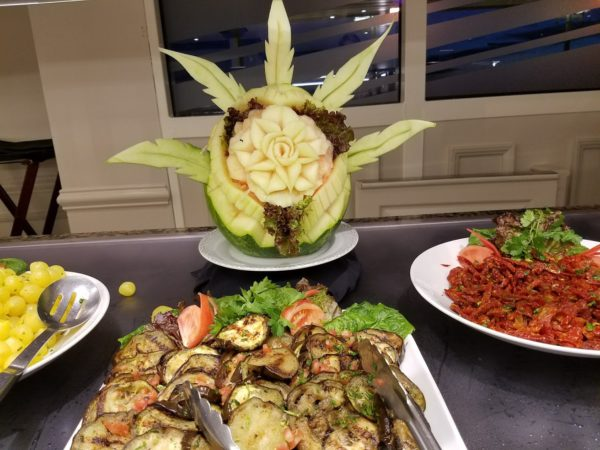 Cruise ship fruit carving