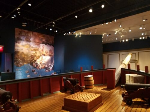Privateer ship at the Museum of the American Revolution, Philadelphia