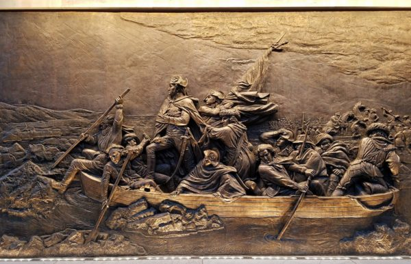 Frieze of Washington Crossing the Delaware, Museum of the American Revolution, Philadelphia
