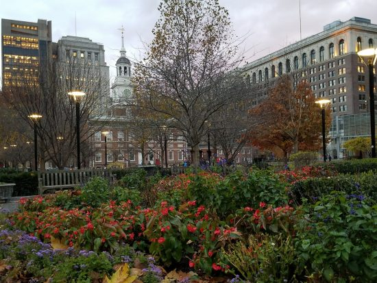 Independence Hall in Old City, Philadelphia can be a romantic escape.
