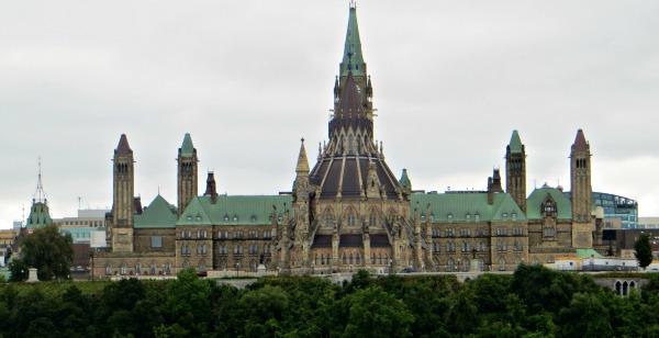 The back of Parliament Hill, Ottawa, Canada