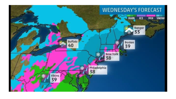 Weather map for Winter Storm Quinn