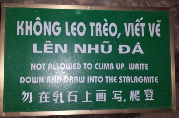 Halong Bay, VIetnam , funny signs in Southeast Asia