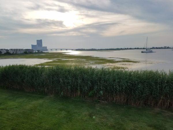 Harrahs Atlantic City Casino from Brigantine, New Jersey