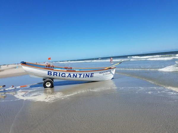 Lifeboat on Brigantine Beach, New Jersey