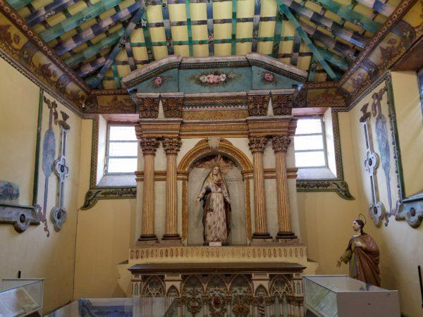 Interior of the old cathedral in Cuenca, Ecuador