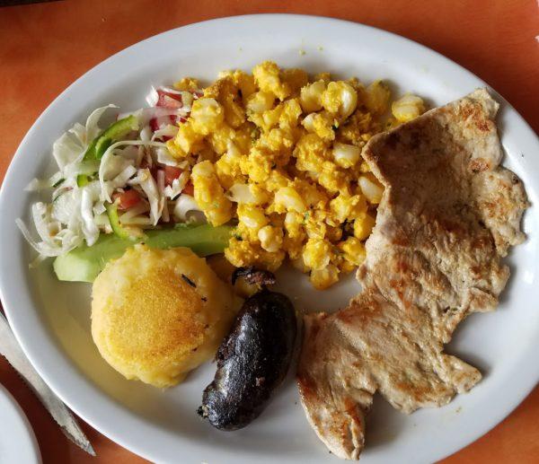 plato tipico, Cuenca, Ecuador
