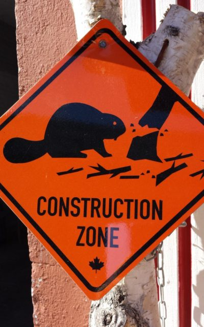 Canadian construction sign