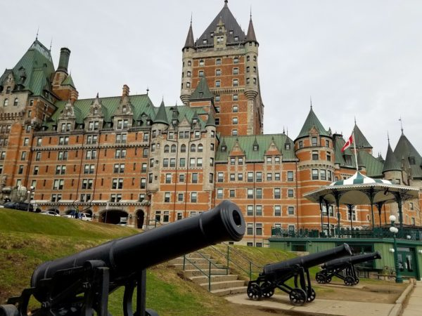 Cannons outside the Hotel Chateau Frontenac, Quebec City, Canada