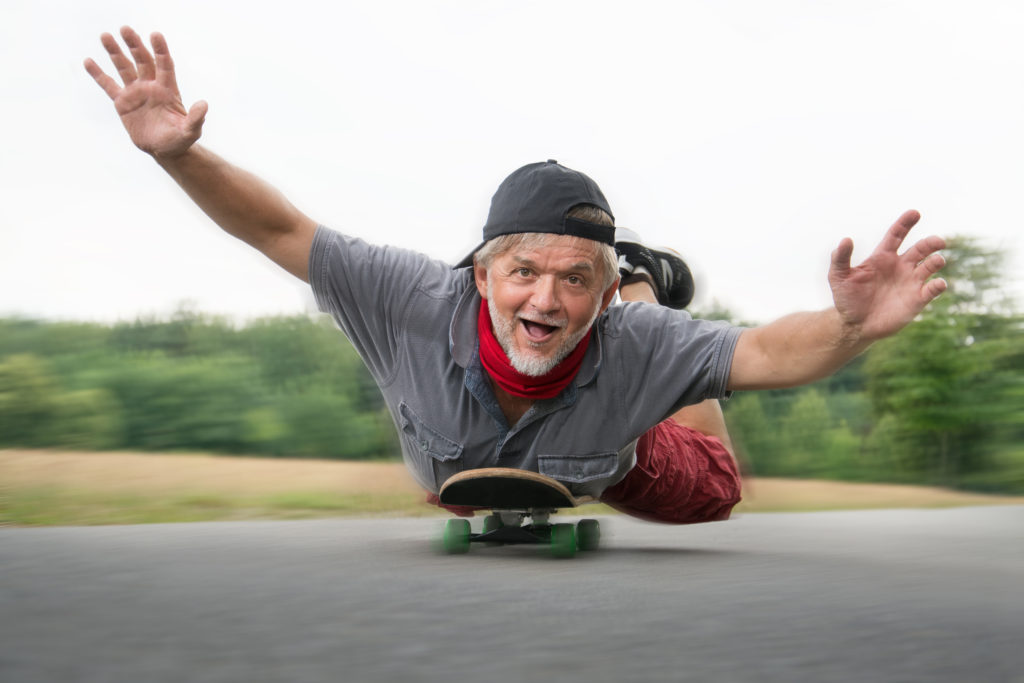 old man skateboard sports