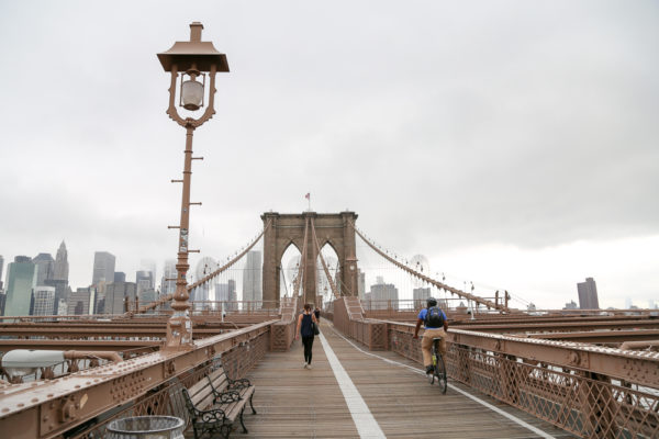 Free thing to do in NYC.: Walk across the Brooklyn Bridge Walkway