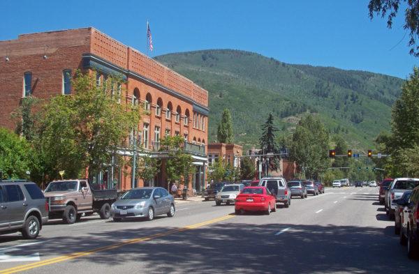 Main Street Aspen, Colorado with the historic Hotel Jerome