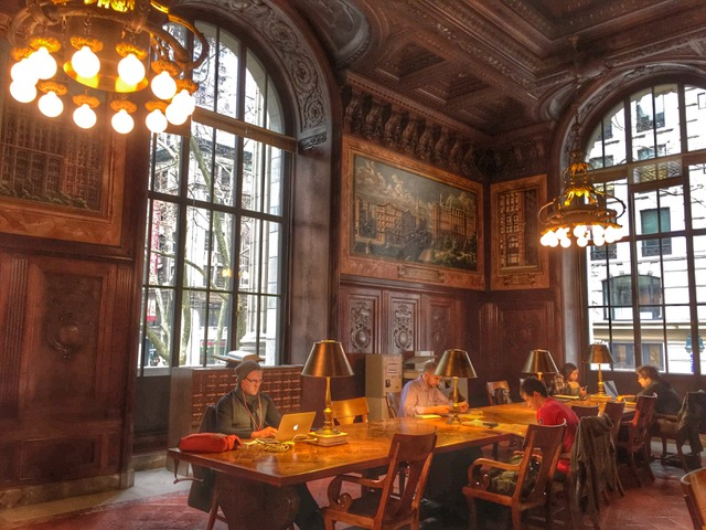 Reading room at the historic main branch of the New York Public Library