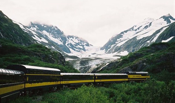 Panoramic Train on our multigenerational Alaska cruise