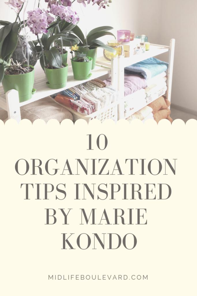 marie kondo konmari tidying tips