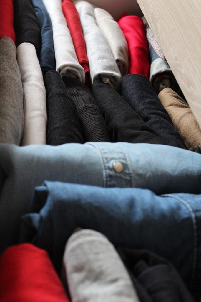 folded shirts KonMari Marie Kondo