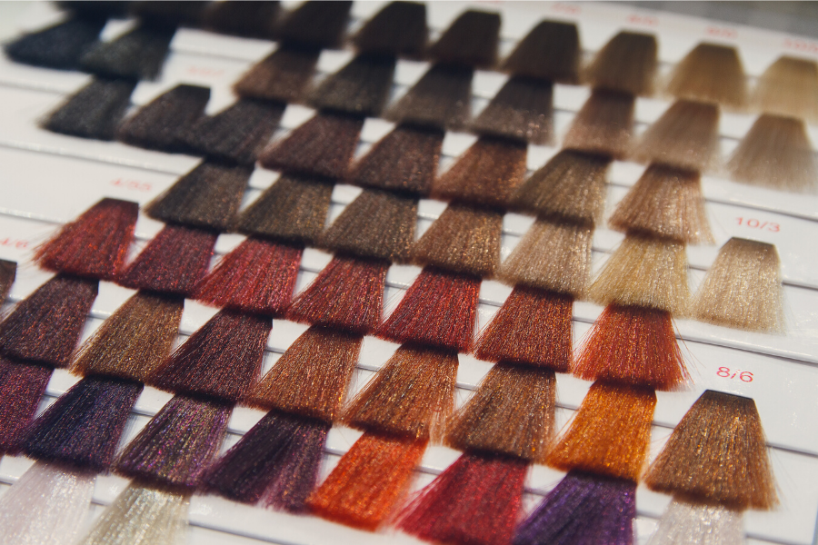 hair dye swatches
